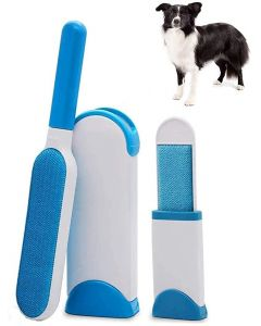 2020 Updated, 2 Pet Hair Removers, Self-Cleaning, Mess Free, Reusable, No Refills and No Waste and No Power Plug, Double Sided Brushes, Dog and Cat Hair Lint Remover on Clothing, Car Seat and Carpet