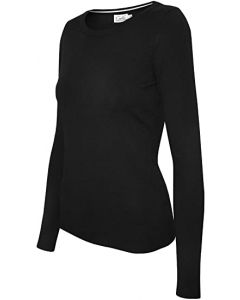Cielo Women's Solid Basic Soft V-Neck Stretch Pullover Knit Sweater