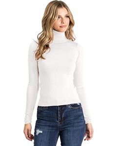 Ambiance Apparel Women's Juniors Ribbed Long Sleeve Turtleneck Top