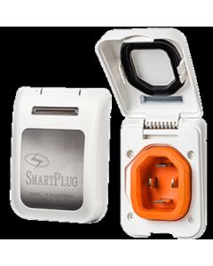 SmartPlug 50 Amp Non Metallic White Inlet - Boat and amp RV Side