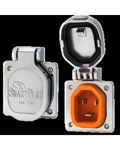 SmartPlug 30 Amp Inlet w/Stainless Steel Cover/No Thermostat - Boat and amp RV Side